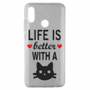 Huawei Honor 10 Lite Case Life is better with a cat