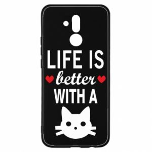 Huawei Mate 20Lite Case Life is better with a cat