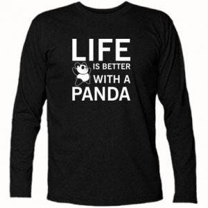 Koszulka z długim rękawem Life is better with a panda
