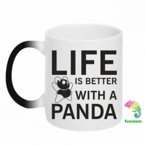 Chameleon mugs Life is better with a panda
