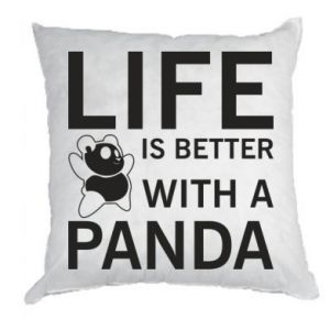 Poduszka Life is better with a panda