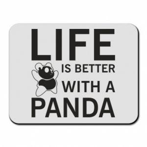Podkładka pod mysz Life is better with a panda