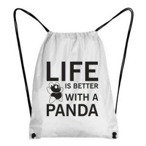 Plecak-worek Life is better with a panda