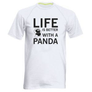 Men's sports t-shirt Life is better with a panda