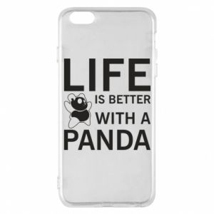 Etui na iPhone 6 Plus/6S Plus Life is better with a panda
