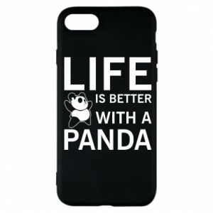 Etui na iPhone 7 Life is better with a panda