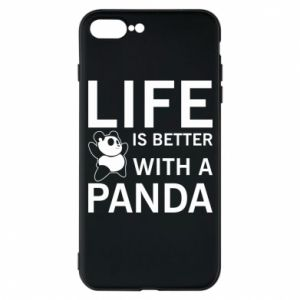 Etui na iPhone 7 Plus Life is better with a panda