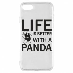 Etui na iPhone 8 Life is better with a panda