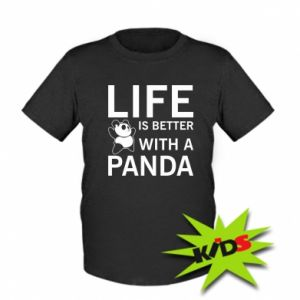 Dziecięcy T-shirt Life is better with a panda