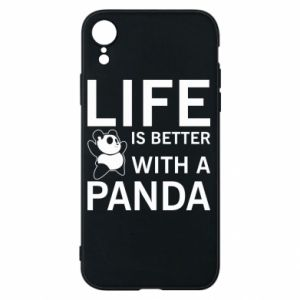 Etui na iPhone XR Life is better with a panda