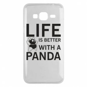 Etui na Samsung J3 2016 Life is better with a panda