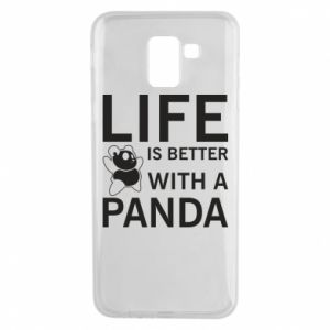 Etui na Samsung J6 Life is better with a panda