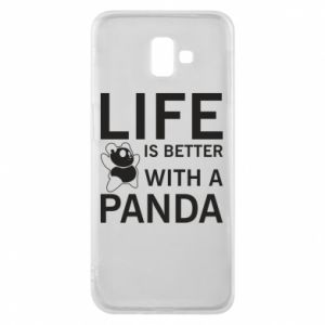 Etui na Samsung J6 Plus 2018 Life is better with a panda