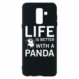 Etui na Samsung A6+ 2018 Life is better with a panda