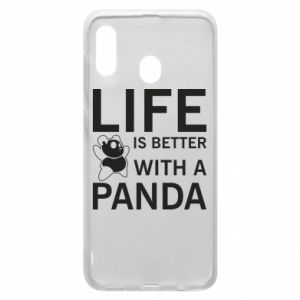 Etui na Samsung A20 Life is better with a panda
