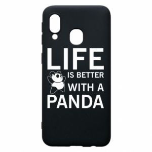 Etui na Samsung A40 Life is better with a panda