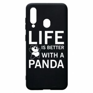 Etui na Samsung A60 Life is better with a panda