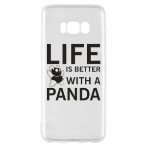 Etui na Samsung S8 Life is better with a panda