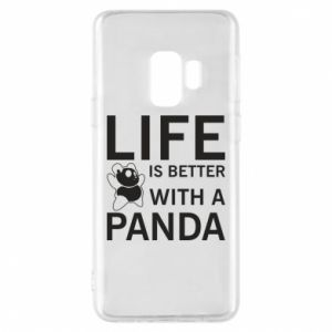 Etui na Samsung S9 Life is better with a panda