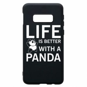 Etui na Samsung S10e Life is better with a panda