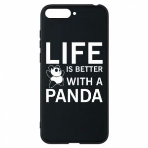 Etui na Huawei Y6 2018 Life is better with a panda