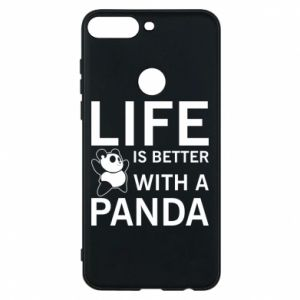 Etui na Huawei Y7 Prime 2018 Life is better with a panda