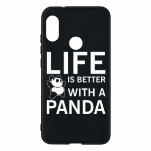 Etui na Mi A2 Lite Life is better with a panda