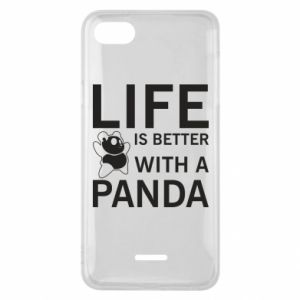 Phone case for Xiaomi Redmi 6A Life is better with a panda