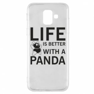 Etui na Samsung A6 2018 Life is better with a panda