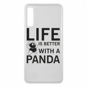 Etui na Samsung A7 2018 Life is better with a panda
