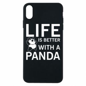 Etui na iPhone Xs Max Life is better with a panda