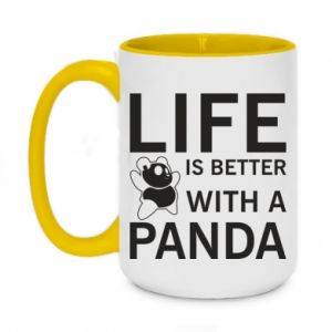 Kubek dwukolorowy 450ml Life is better with a panda