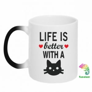 Magic mugs Life is better with a cat