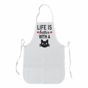 Apron Life is better with a cat