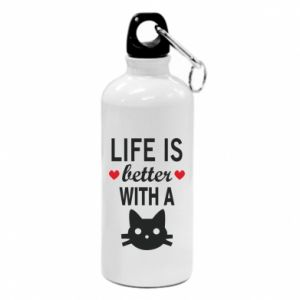 Water bottle Life is better with a cat