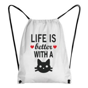 Backpack-bag Life is better with a cat