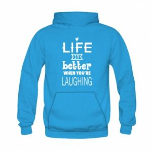 Kid's hoodie Life is butter when you're laughing