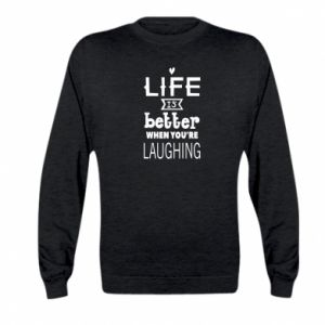 Kid's sweatshirt Life is butter when you're laughing