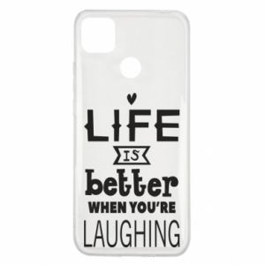 Xiaomi Redmi 9c Case Life is butter when you're laughing