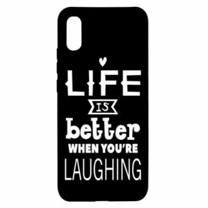 Xiaomi Redmi 9a Case Life is butter when you're laughing