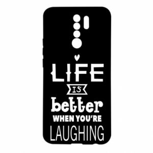 Xiaomi Redmi 9 Case Life is butter when you're laughing