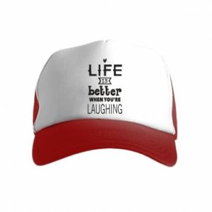 Kid's Trucker Hat Life is butter when you're laughing