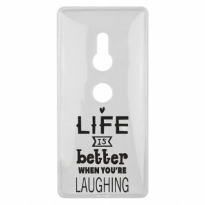 Sony Xperia XZ2 Case Life is butter when you're laughing