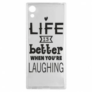 Sony Xperia XA1 Case Life is butter when you're laughing