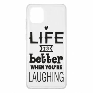Samsung Note 10 Lite Case Life is butter when you're laughing