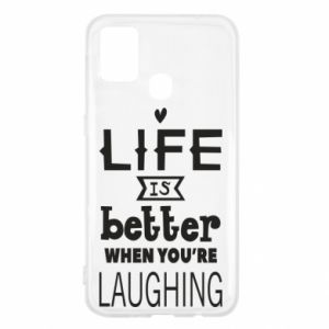 Samsung M31 Case Life is butter when you're laughing