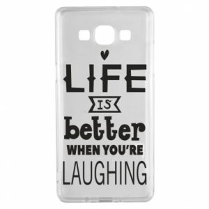 Samsung A5 2015 Case Life is butter when you're laughing