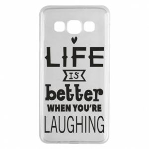 Samsung A3 2015 Case Life is butter when you're laughing