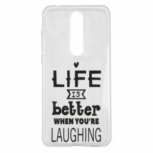 Nokia 5.1 Plus Case Life is butter when you're laughing