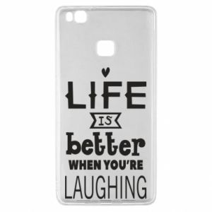 Huawei P9 Lite Case Life is butter when you're laughing